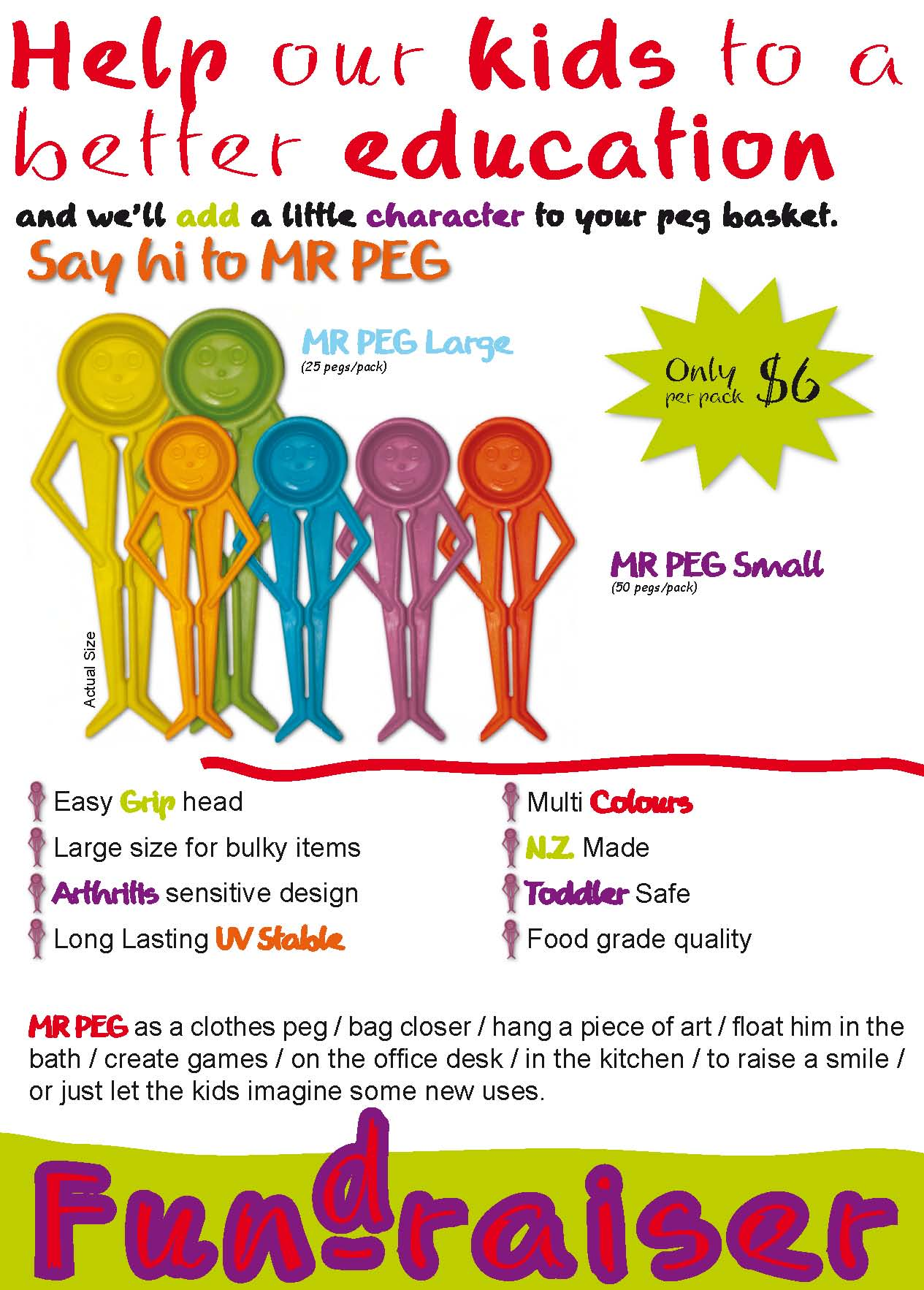 Fundraising with Mr Peg PlastiClip Products Home of Mr Peg – Free Fundraising Flyer Templates